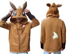 Pokemon Go Cosplay Anime Costume Ears Tail Zip Coat Sweatshirt Hoodie Jacket New