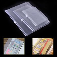 Umschlag Reißverschluss Kunststoff Buch Taschen Zip Lock Dokumenten mappe Binder