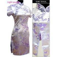 Chinese Traditional Short Cheongsam Women Silk Mini Dress Prom Qipao S-5XL