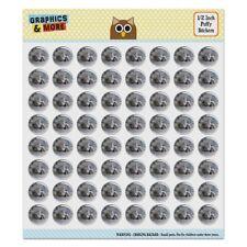 Gray Domestic Shorthair Kitten Cat Fur Puffy Bubble Scrapbooking Sticker Set