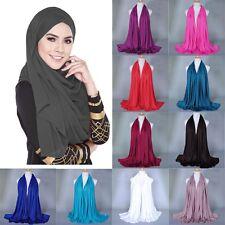 New Muslim Voile Hijab Islamic Long Scarf Arab Cap Shawl Headscarf Headwear