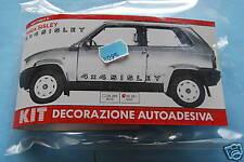 FIAT PANDA 4 X4 SISLEY ADESIVI NERI DECORATIVI PORTE self adhesive decoration