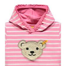 Steiff Girls Sweatshirt mit Kapuze Rosa gestreift