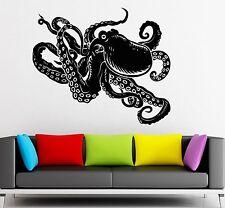 Wall Sticker Vinyl Decal Octopus Marine Animal Nice Bathroom Decor (ig1965)
