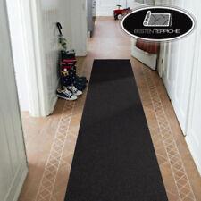 Moderne Läufer schwarz Teppich Korridor Flur Diele Breite 50, 60, 70 cm Teppiche