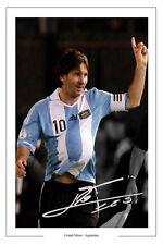 Lionel messi argentine Autographe Signé imprimé photo