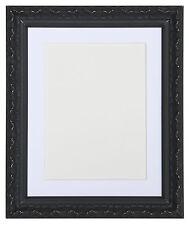 VINTAGE ORNé shabby chic noir argenté Image et cadres photo avec montures