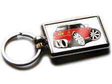 MINI COOPER S Sports Car Koolart Chrome Keyring Picture Both Sides