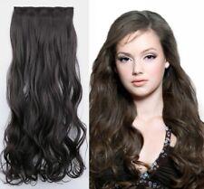 Haarverlängerung Clip-In gewellt Extensions Haarteil Haarverdichtung Dunkelbraun