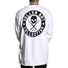 Sullen Men's Badge Of Honor Long Sleeve T Shirt White Clothing Apparel Tees