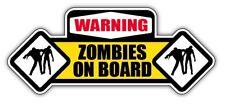 WARNING ZOMBIES ON BOARD CAR STICKER