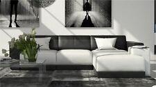 Ledersofa FERRAGAMO L Form Design Ecksofa mit Ottomane Luxus Couch inkl. Kissen