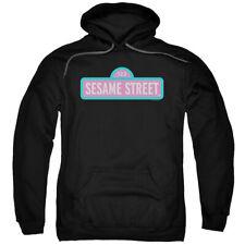 Sesame Street Alt Logo Mens Pullover Hoodie Black