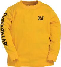 Kids Boys Youths Caterpllar Long Sleeve Banner T Shirt Reduced