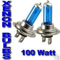 ASTRA G H CORSA C MERIVA XENON HEADLIGHT bulbs H7 100W