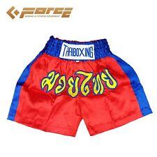 Boxing Shorts Trunks Pants Kids Children FORCE Kick Boxing Muay Thai RedBlue