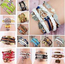 BRACELET BRACELET TOUR DE BRAS BANDE amitié bracelets breloques simili-cuir