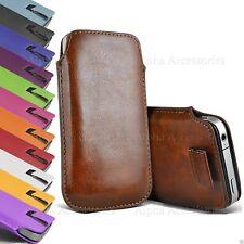 Premium Leather Pull Tab Pouch Case Cover Fondina per Vari Cellulari Apple