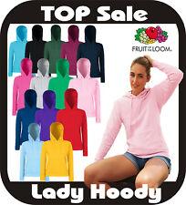 Damen Kapuzensweatshirt Pullover Hoody Fruit of the Loom