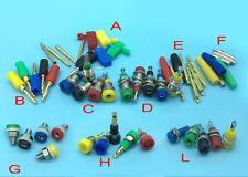 Copper 2mm Banana Plug 2mm Banana socket Binding Post Multicolor Mini Test Probe
