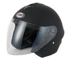 Vcan V510 Cara Abierta Para Motocicleta / Casco De La Moto - Negro Mate