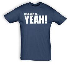 """Camiseta T-Shirt con dicho """"Y todas so YEAH!"""", Algodón, muchos colores, S 3XL"""