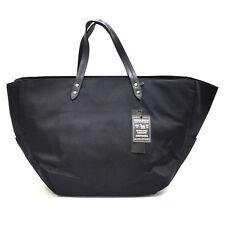 Woolrich Borsa Donna Nero Tessuto Manici Originale Shopping Grande WWBAG0130