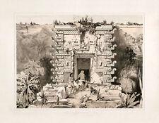 "Frederick Catherwood : ""Gateway to Teocallis at Uxmal"" (1844) — Fine Art Print"