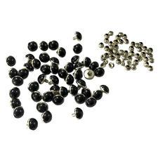 50 Set Metal Round Rivets Studs 10 mm Spots Spikes Nailhead DIY Leathercraft