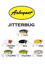 "Arbogast Jitterbug, 2-1/2"" 3/8 oz, Model G600, Choice of Colors"