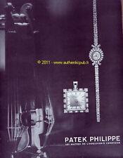 PATEK PHILIPPE MONTRE publicité 1957 VIOLON FRENCH WATCH AD PRINT