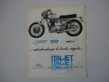 advertising Pubblicità 1970 MOTO ITALJET GRIFON 650