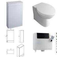 Gloss White W/c Toilet BTW Compact Unit Bathroom furniture Back To Wall Slim