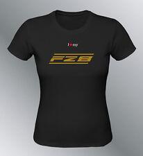 Tee shirt personnalise FZ8 S M L XL femme noir col rond moto FZ 8