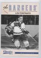 2012 Panini Classics Signatures #185 Lou Fontinato New York Rangers Hockey Card
