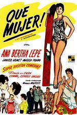 Poster. Cuban Film. Que Mujer.Cuba Comedy.Peliculas Cubanas.History.Art Deco 60i