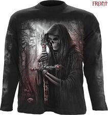 Spiral Direct SOUL SEARCHER Long Sleeve T-shirt//Skull/GrimeReaper/Gun/Dark wear