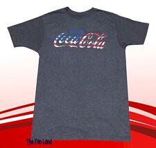 New Coca-Cola Coke American Flag Heather Mens Vintage Retro T-Shirt