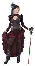 Victorian Era Gilded Brass Age Wild West Dress Steampunk Costume Adult Women