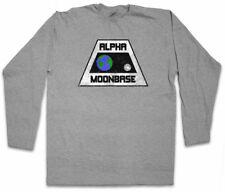 VINTAGE ALPHA MOONBASE LOGO LANGARM T-SHIRT Alpha 1 TV Space 1999 Symbol Sign