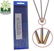 Elettrodi TIG tungsteno per leghe colore ORO giallo Confezione 10 pz vari Ø