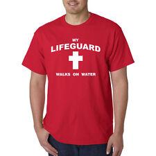 My Lifeguard Walks On Water T-Shirt - Christian Catholic Religious Tee Jesus god