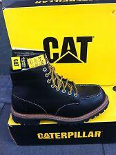 CAT Caterpillar Schuhe Boots Stiefel Echtleder Black NEU