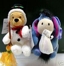 Disney~Snowman Pooh & Sugar Plum Fairy Eeyore~BB Set