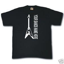 FLYING V GUITAR concert gig band tour custom personalised T-shirt