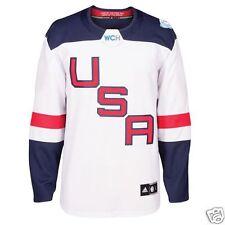 2016 World Cup of Hockey Team USA Adidas Men's Premier White Jersey