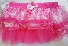 NEW PINK CHEETAH TUTU SKIRT w/ HANDMADE ROSE GIRLS BABY INFANT 6 9 12 MONTHS