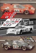 Calcas Chevron B16 Le Mans 1970 44 48 49 1:32 1:24 1:43 1:18 slot decals