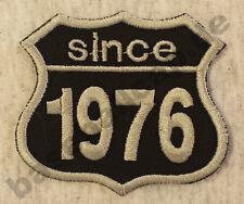 Patch Aufnäher Jahreszahl since 1976 Biker Hot Rod Custom