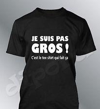 Tee shirt personnalise JE SUIS  PAS GROS humour homme fete peres grand papa